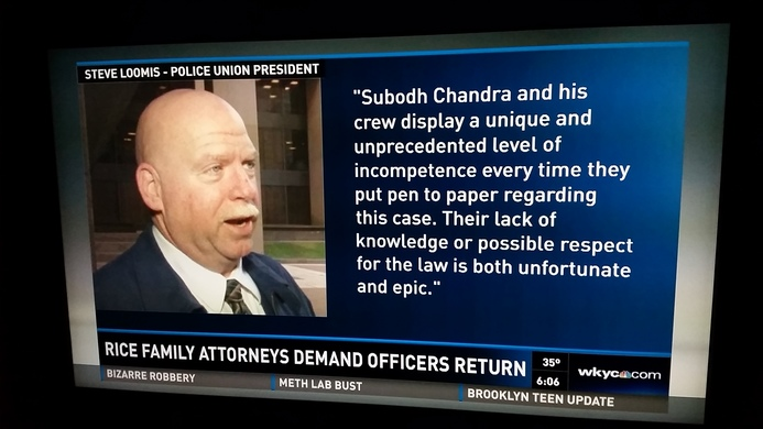 Steve Loomis, police-union president, insults Chandra Law managing partner Subodh Chandra