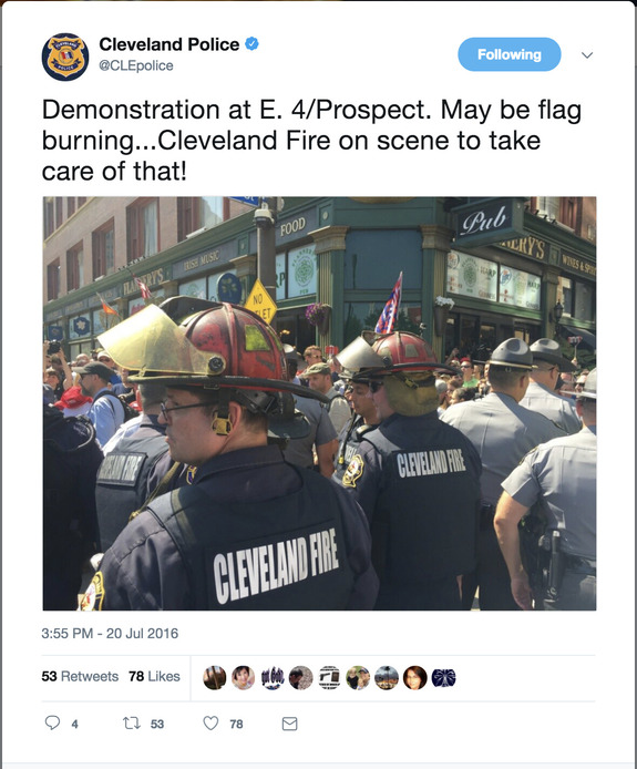 Man who established American law on flag-burning sues Cleveland, police, and InfoWars for 2016 RNC flag-burning arrest and prosecution.